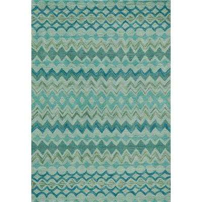 Rio Teal 5 ft. x 7 ft. 6 in. Indoor Area Rug