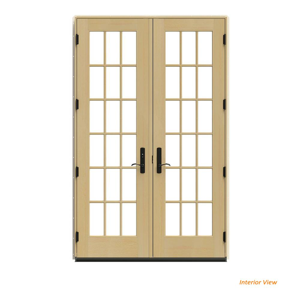 Jeld Wen 60 In X 96 In W 4500 Brown Clad Wood Right Hand 18 Lite