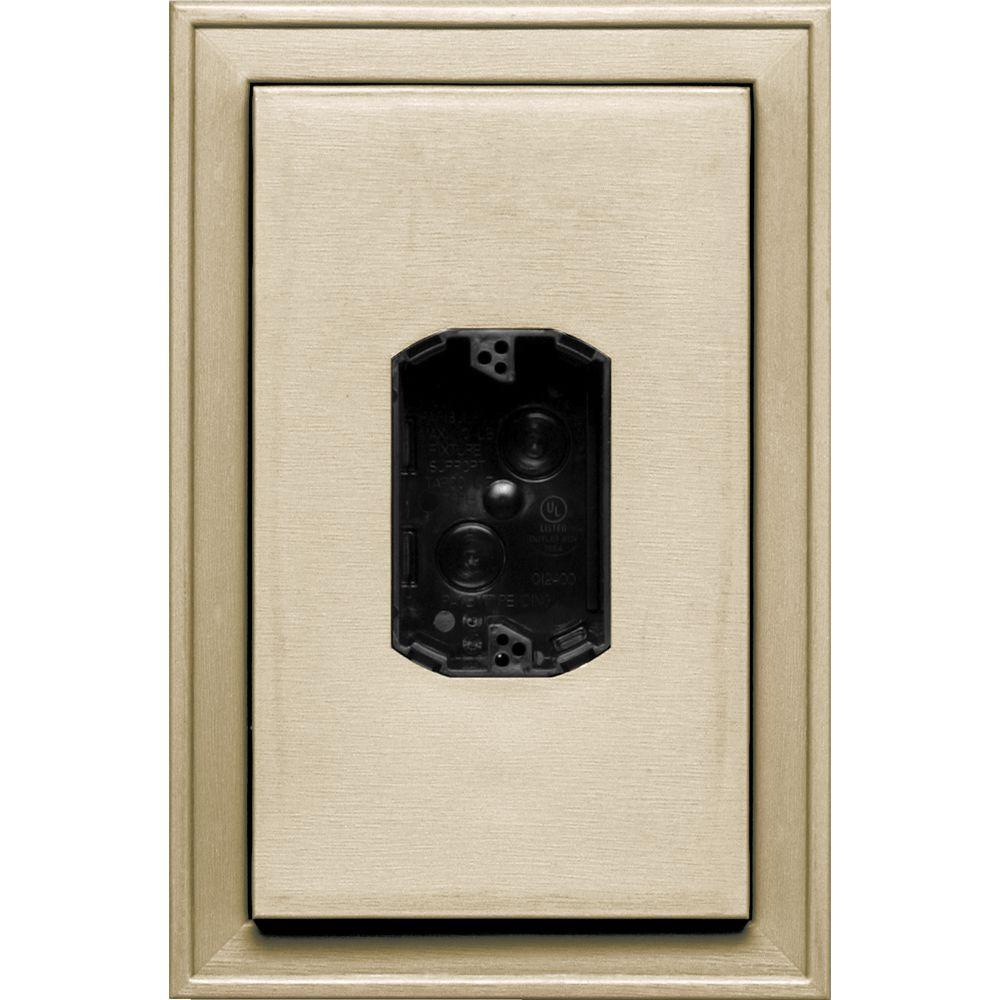 8.125 in. x 12 in. #049 Almond Jumbo Electrical Mounting Block