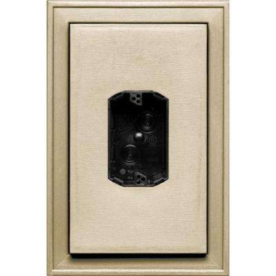 8.125 in. x 12 in. #049 Almond Jumbo Electrical Mounting Block Centered
