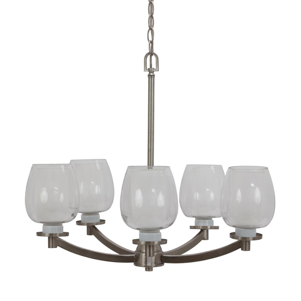 Zane 5-Light Brushed Nickel Chandelier