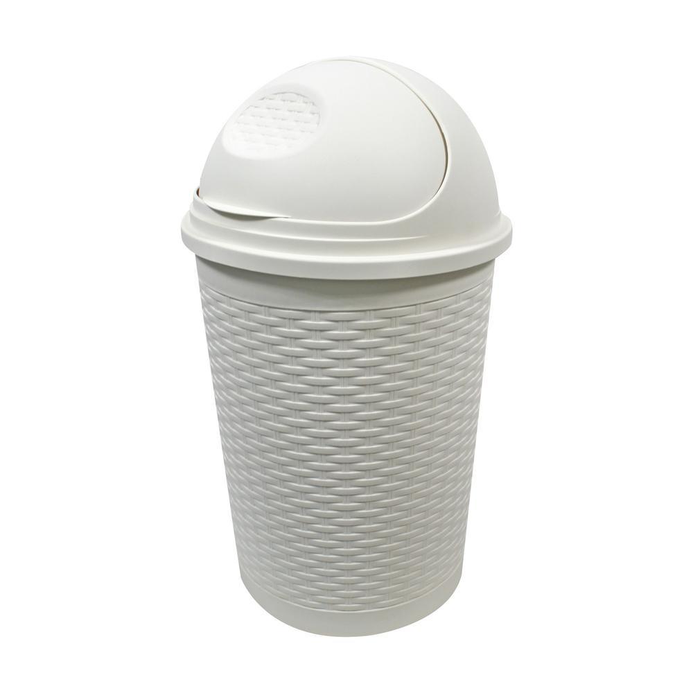 35L Roll Top Bin in White