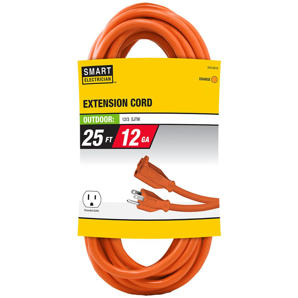 25 ft. 12/3 Orange Extension Cord