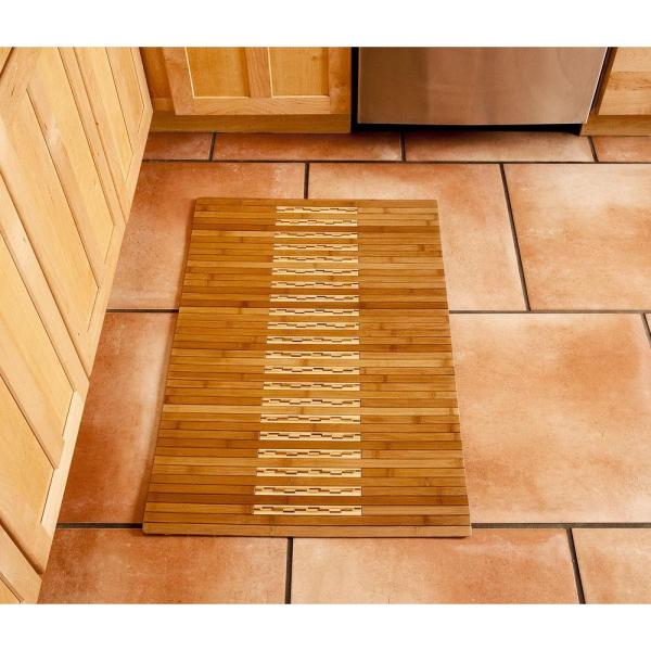 Anji Mountain Light Brown 20 In X 48 In Bamboo Kitchen And Bath