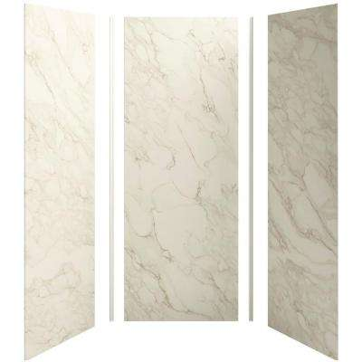 Choreograph 36 in. x 36 in. x 96 in. 5-Piece Shower Wall Surround in CrossCut Biscuit for 96 in. Showers