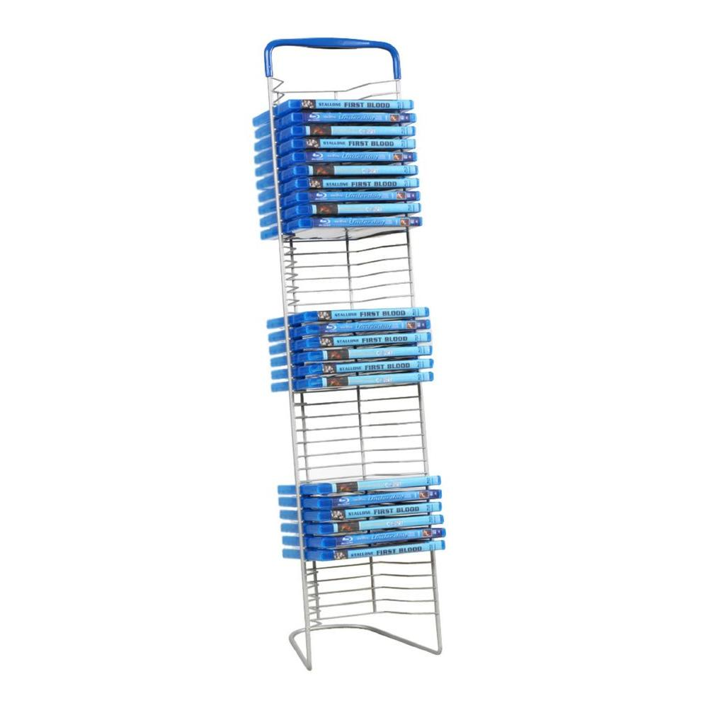 42 DISCS STEEL SHELF HOLDER Blu-Ray DVD Media Storage Tower Stand Organizer Rack  sc 1 st  eBay & 42 DISCS STEEL SHELF HOLDER Blu-Ray DVD Media Storage Tower Stand ...