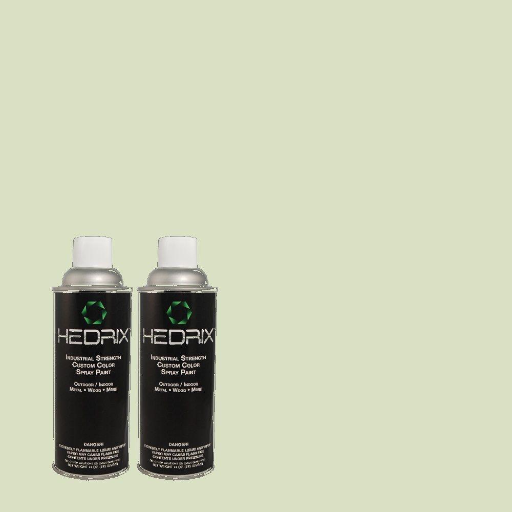 Hedrix 11 oz. Match of 2B59-2 Willow Wand Semi-Gloss Custom Spray Paint (2-Pack)