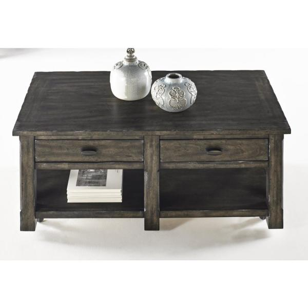 Progressive Furniture Crossroads Smokey Gray Rectangular Cocktail Table T550-01