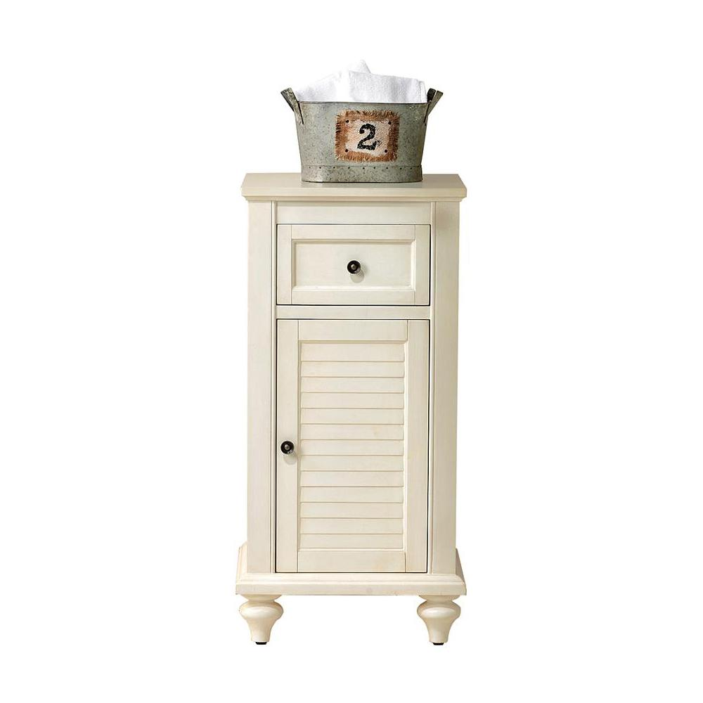 Home Decorators Collection Hamilton 35 in. H x 17 in. W x 15 in. D Bathroom Linen Storage Cabinet in Ivory