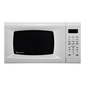 Magic Chef 0 9 Cu Ft Countertop Microwave In White Mcm990w The Home Depot