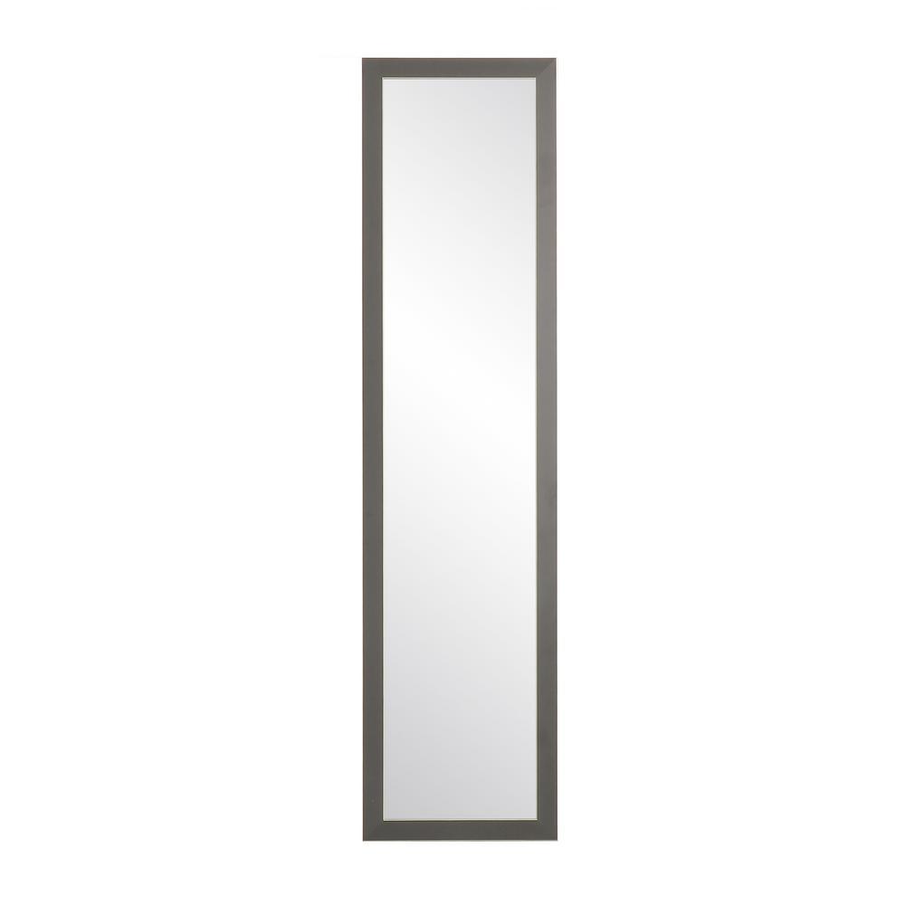BrandtWorks Modern Matte Charcoal Slim Floor Mirror BM71Thin