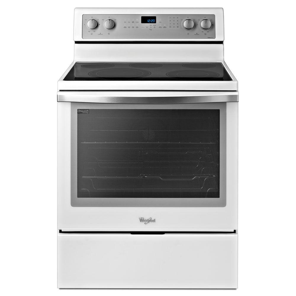 Whirlpool 6.2 cu. ft. Electric Range with Self-Cleaning Convection Oven in White Ice