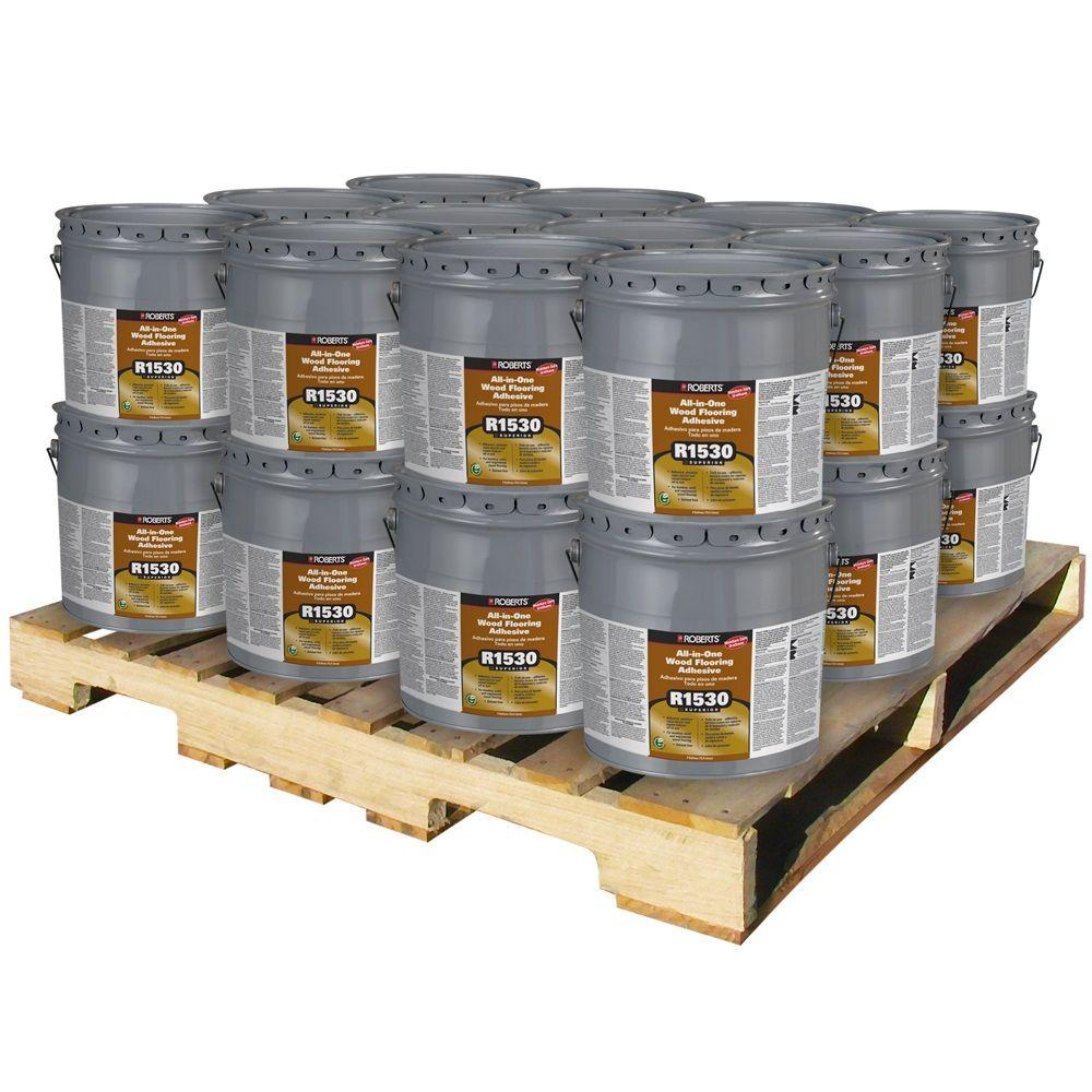 Roberts 4-gal. Wood Flooring Urethane Adhesive and Moisture-Sound Barrier