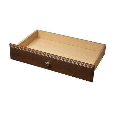 24 in. x 4 in. Espresso Deluxe Wood Drawer Kit