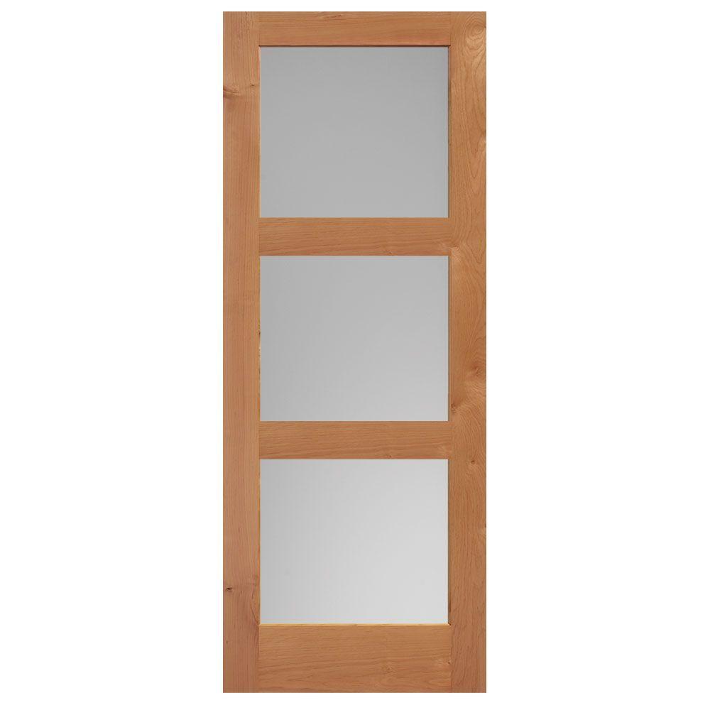 Masonite 40 in x 84 in knotty alder veneer 3 lite equal - Knotty alder interior doors sale ...