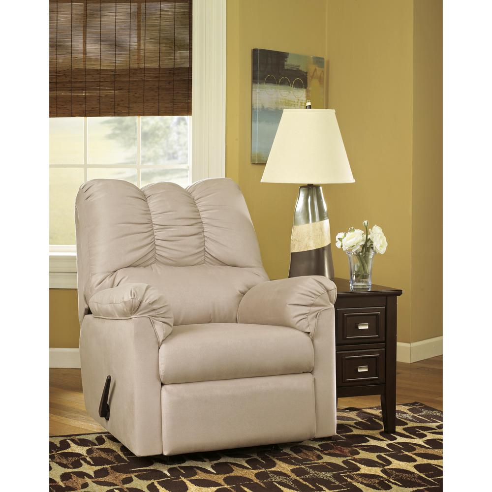 Flash Furniture Signature Design By Ashley Darcy Stone Fabric Rocker  Recliner 1109RECSTO   The Home Depot