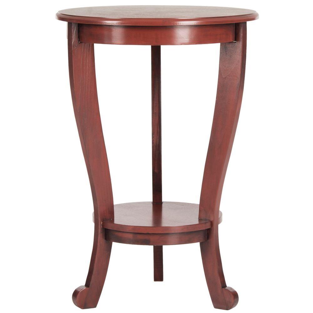 Safavieh Mary Red Side Table AMH5711E