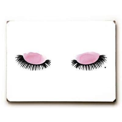 "9 in. x 12 in. ""Eyelashes Watercolor"" by OBC Solid Wood Wall Art"