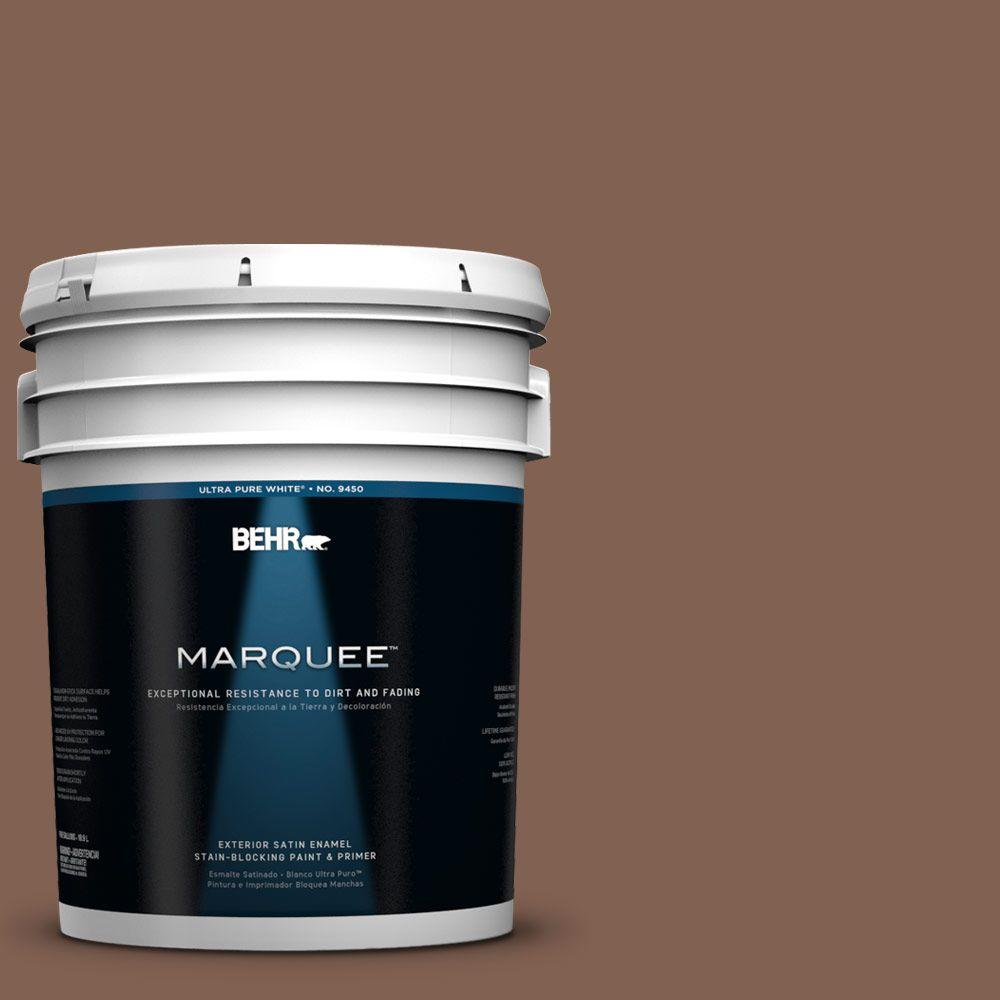 BEHR MARQUEE 5-gal. #HDC-SP14-6 Tilled Earth Satin Enamel Exterior Paint