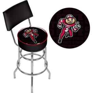Awesome Ohio State Brutus Dash 31 In Chrome Padded Swivel Bar Stool Alphanode Cool Chair Designs And Ideas Alphanodeonline