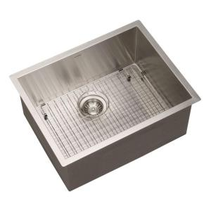HOUZER Contempo Series Undermount Stainless Steel 23 In. Single Bowl  Kitchen Sink CTS 2300   The Home Depot