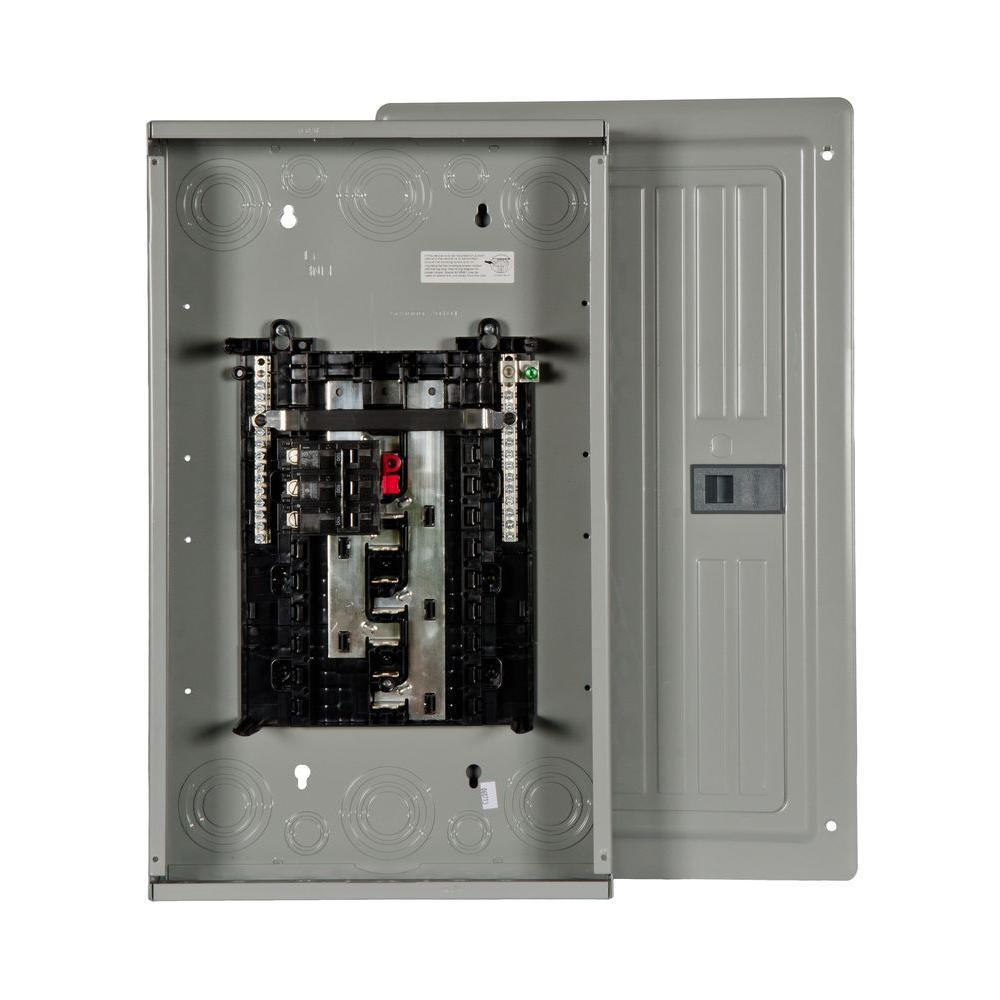 ES Series 100 Amp 12-Space 24-Circuit Main Breaker Indoor 3-Phase Load Center