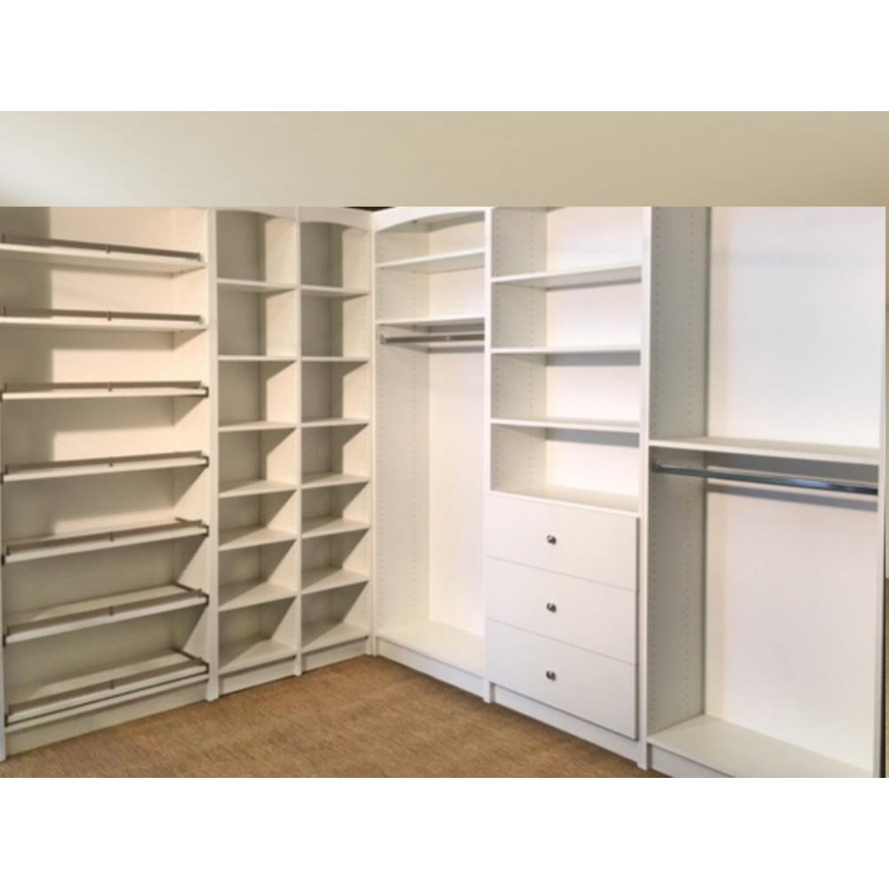 Unbranded Walkin 14 In D X 159 5 In W X 84 In H White Melamine Wood Freestanding Closet System W 9478333 The Home Depot