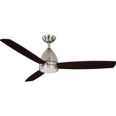 Savanna II 52 in. LED Indoor Brushed Nickel Ceiling Fan with Light and Remote Control