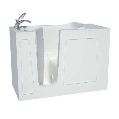 Contractor Series 4.5 ft. Left Drain Walk-In Whirlpool Air Bath Tub in White