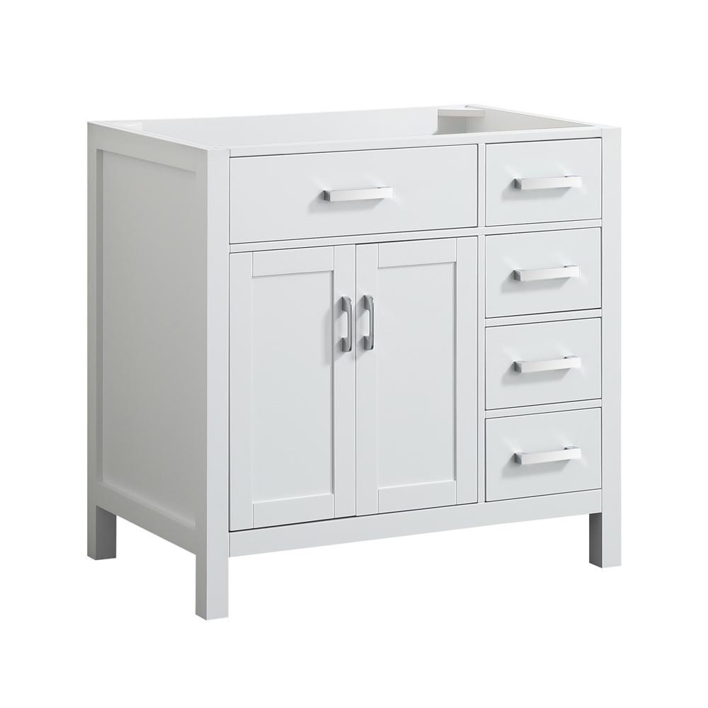Hampton 36 in. W x 21.5 in. D Bath Vanity Cabinet Only in White