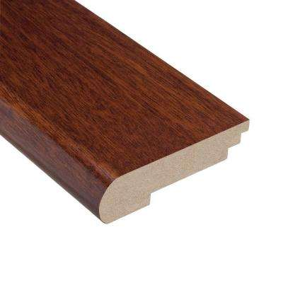 Brazilian Cherry 3/8 in. Thick x 3-3/8 in. Wide x 78 in. Length Hardwood Stair Nose Molding