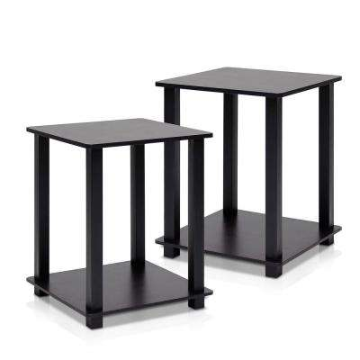Simplistic Espresso End Table (2-Pack)