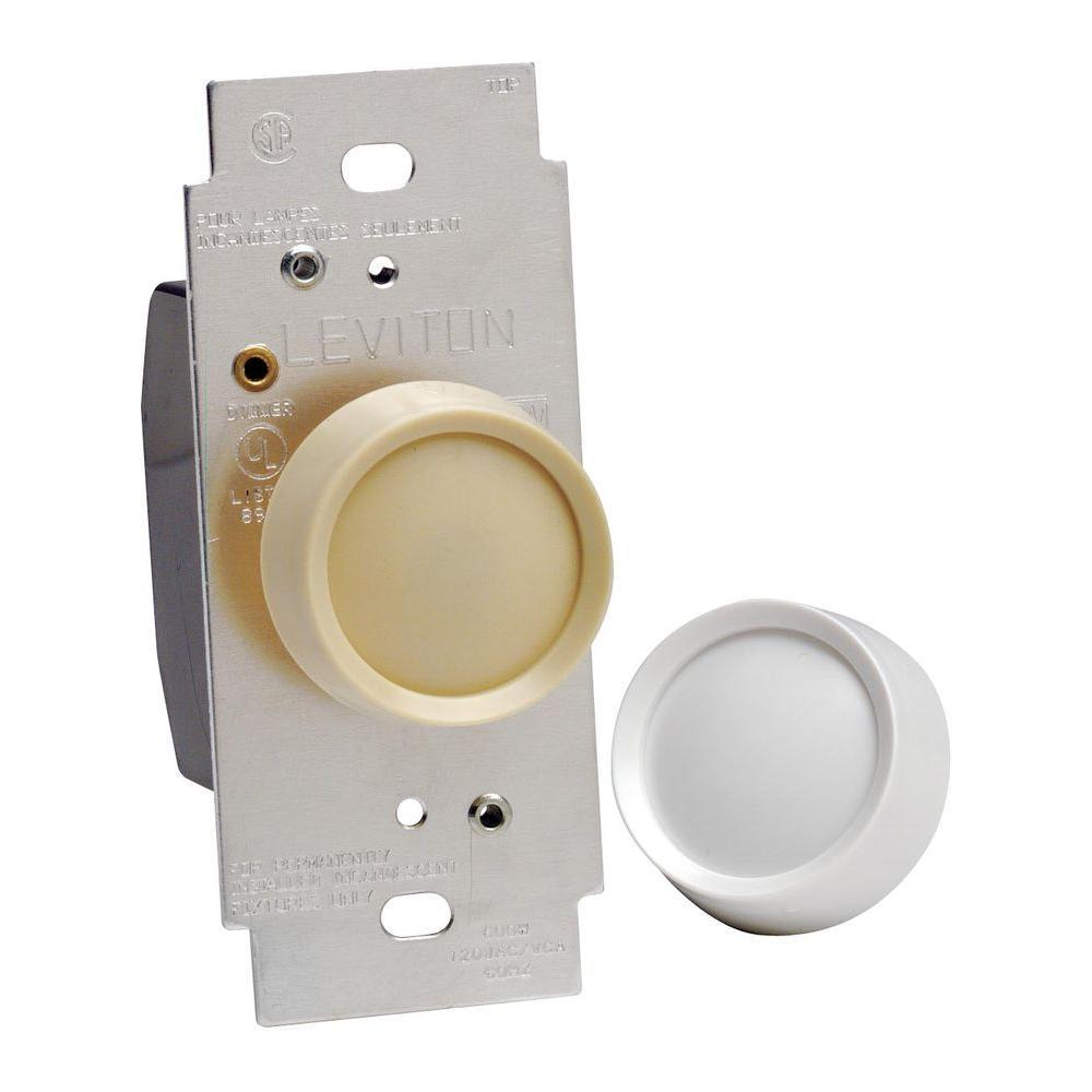 null 600-Watt Rotary On/Off Dimmer, White