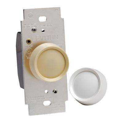 600-Watt Rotary On/Off Dimmer, White