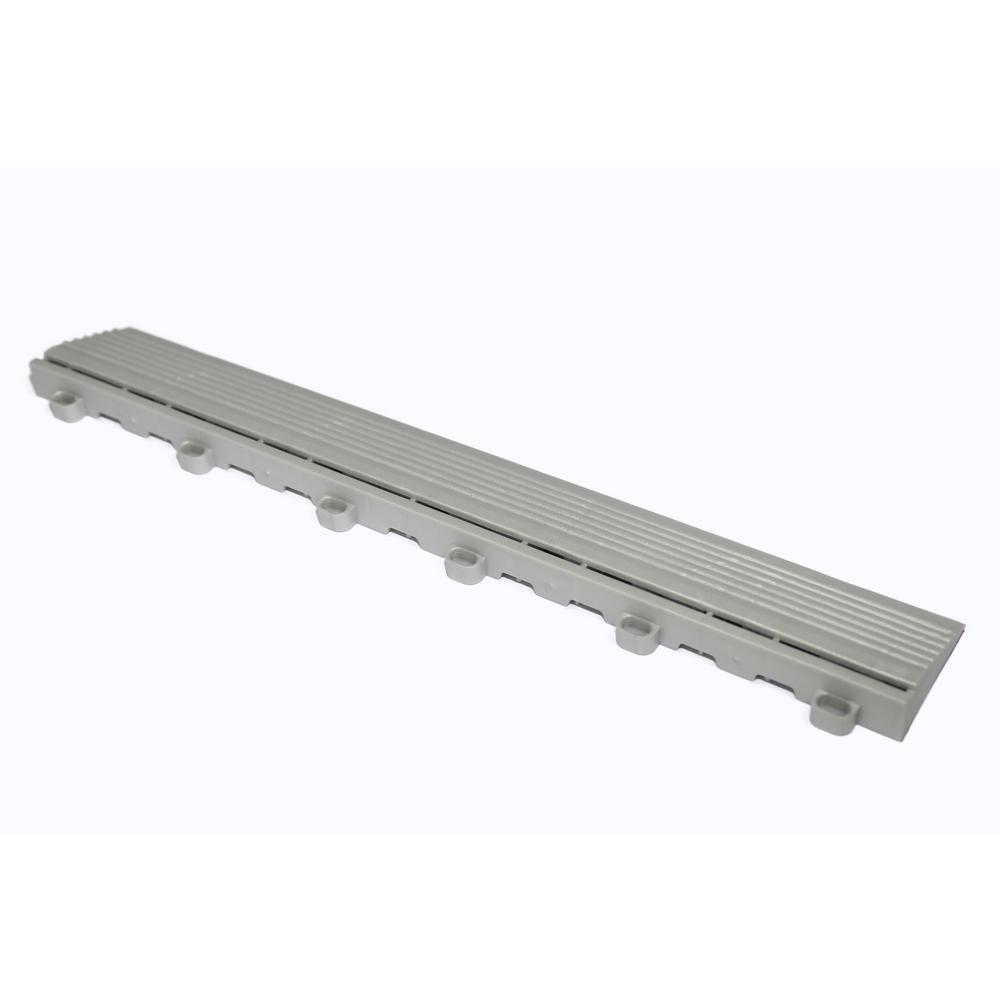 15.75 in. Pearl Sliver Looped Edging for 15.75 in. Swisstrax Modular Tile Flooring (2-Pack)