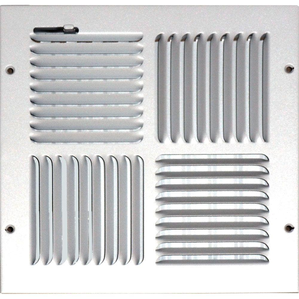 Sdi Grille 10 In X Ceiling Sidewall Vent Register
