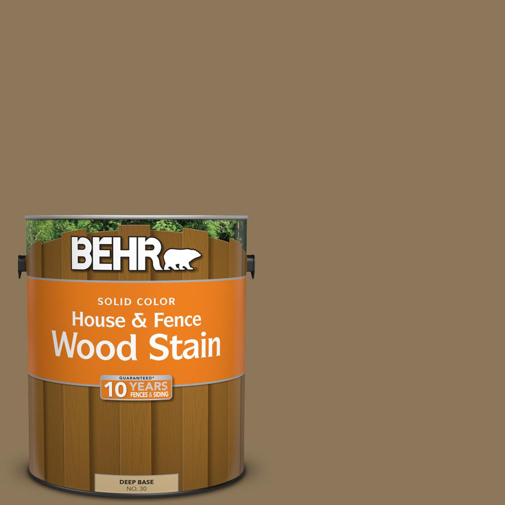 Behr 1 Gal Sc 153 Taupe Solid Color House And Fence Exterior Wood