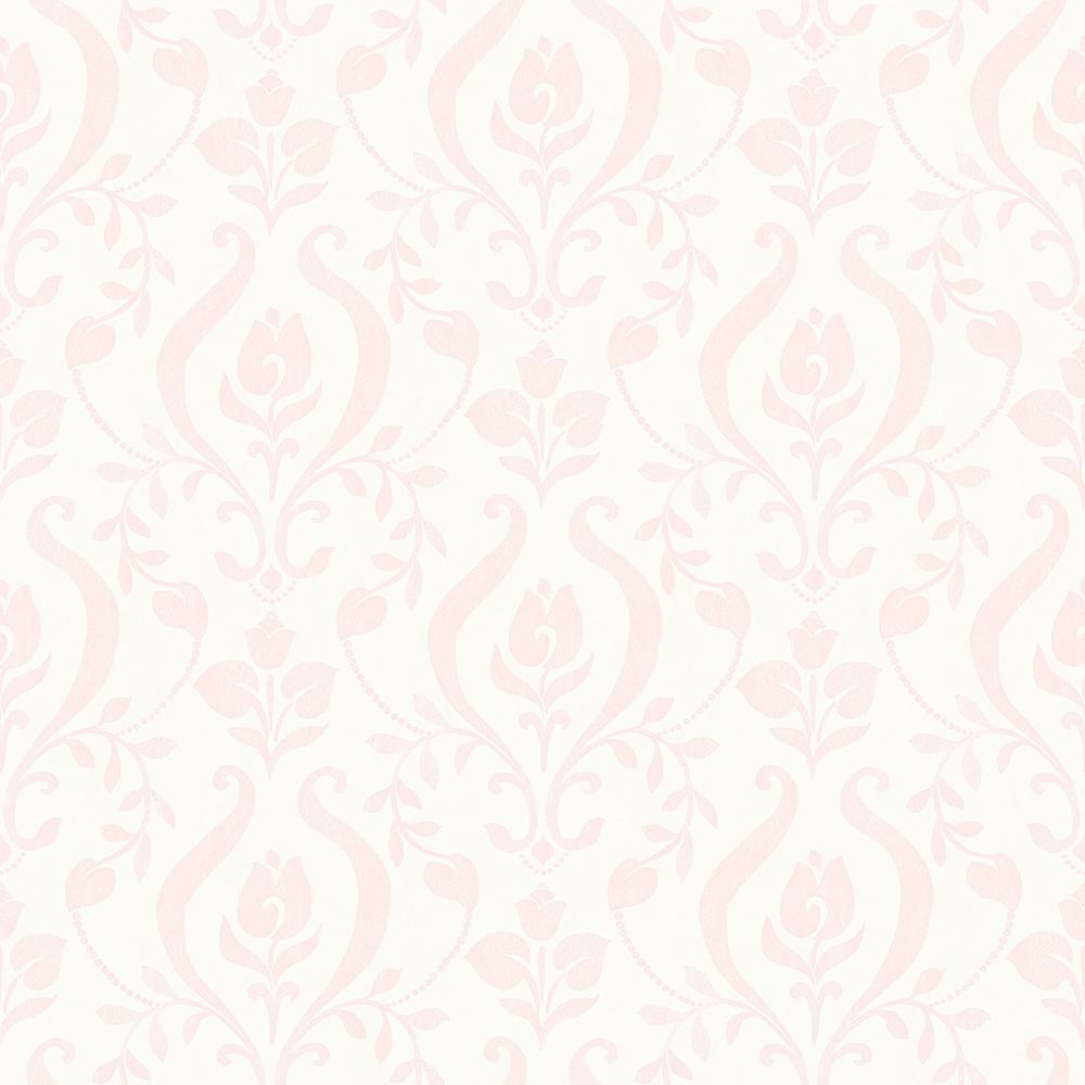 Chesapeake Eloise Light Pink Damask Wallpaper Sample