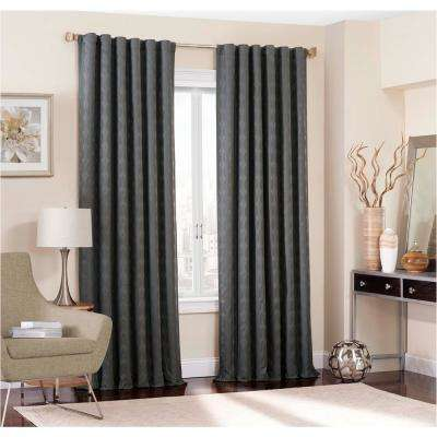 Adalyn Blackout Window Curtain Panel in Fog - 52 in. W x 95 in. L