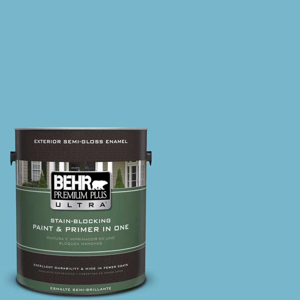 BEHR Premium Plus Ultra 1-gal. #M480-4 Below Zero Semi-Gloss Enamel Exterior Paint