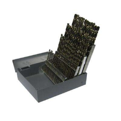 Heavy Duty High Speed Steel Jobber Drill Bit Set (60-Pieces)
