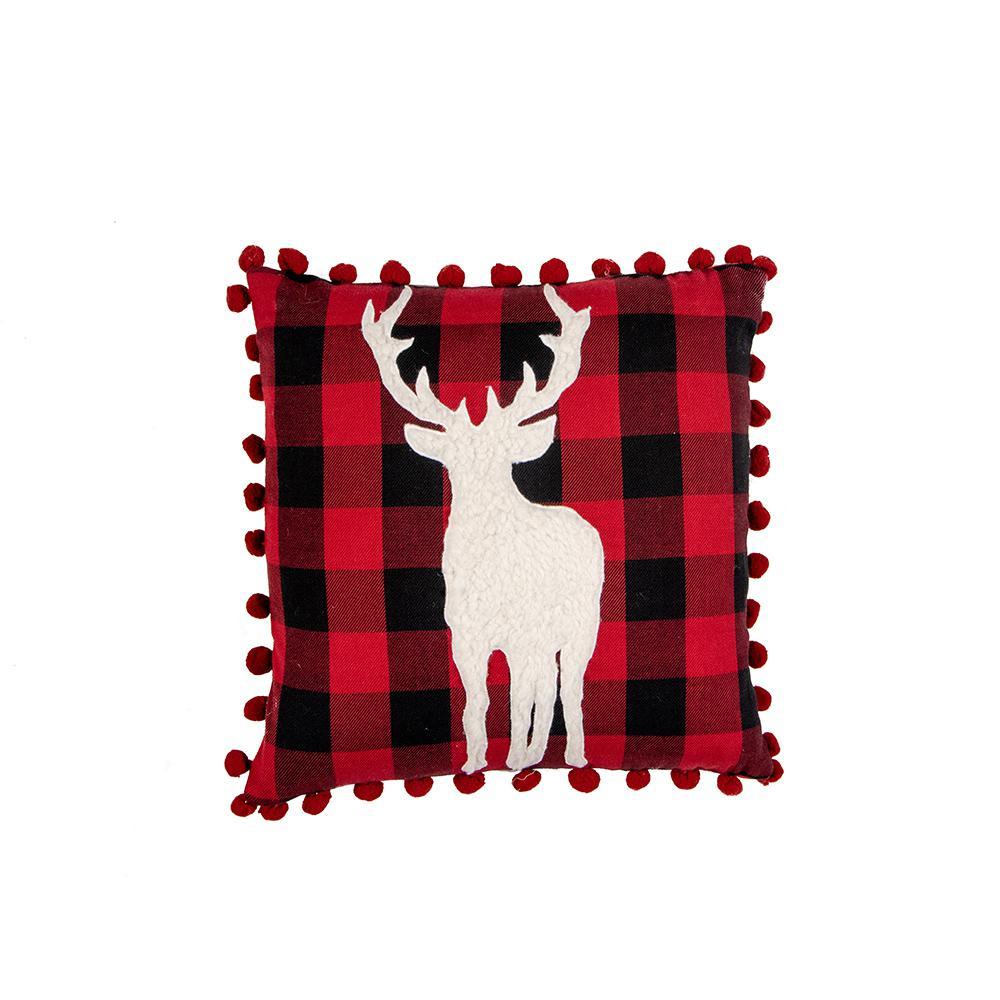 Flannel Deer Down Alternative Standard Throw Pillow