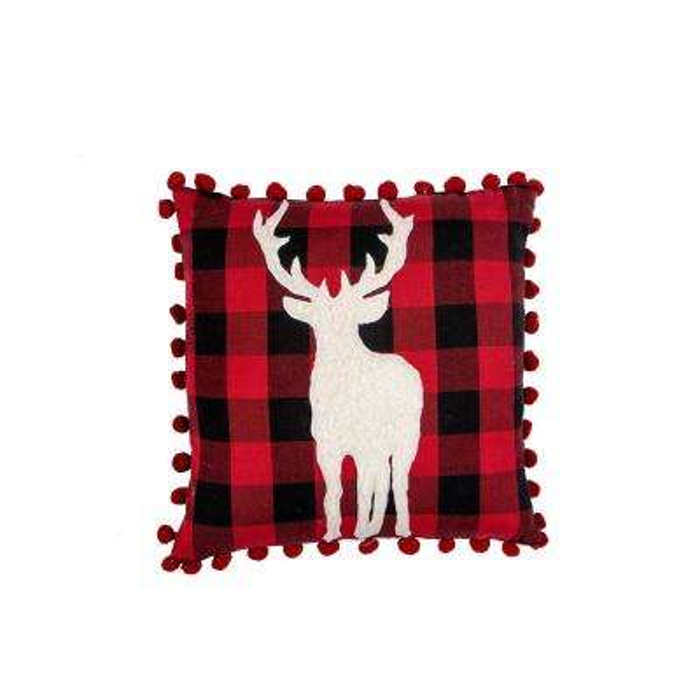 Flannel Deer Pillow