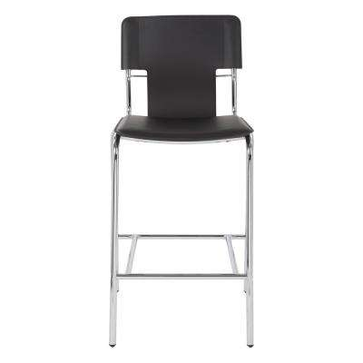 Dorado 26 in. Black Vinyl with Chrome Base Counter Stool (2 per Carton)