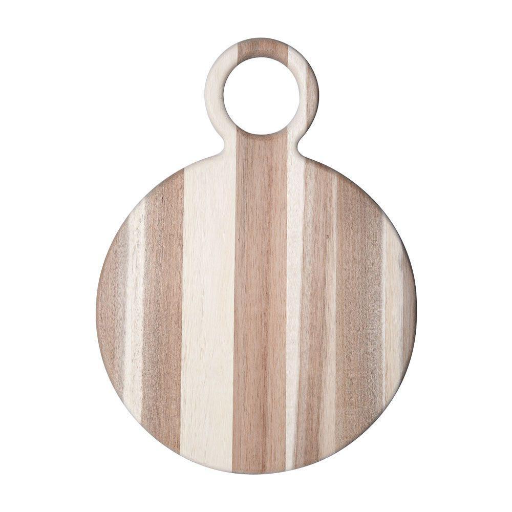 16 in. Natural Round Acacia Wood Cheese Board