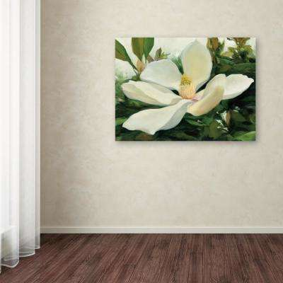 """24 in. x 32 in. """"Majestic Magnolia"""" by Julia Purinton Printed Canvas Wall Art"""
