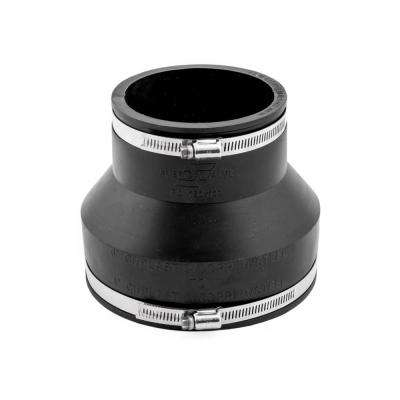 Flexible Coupling 4 in. x 6 in. Flexible PVC for Clay to Cast Iron or PVC Coupling with Stainless Steel Bands
