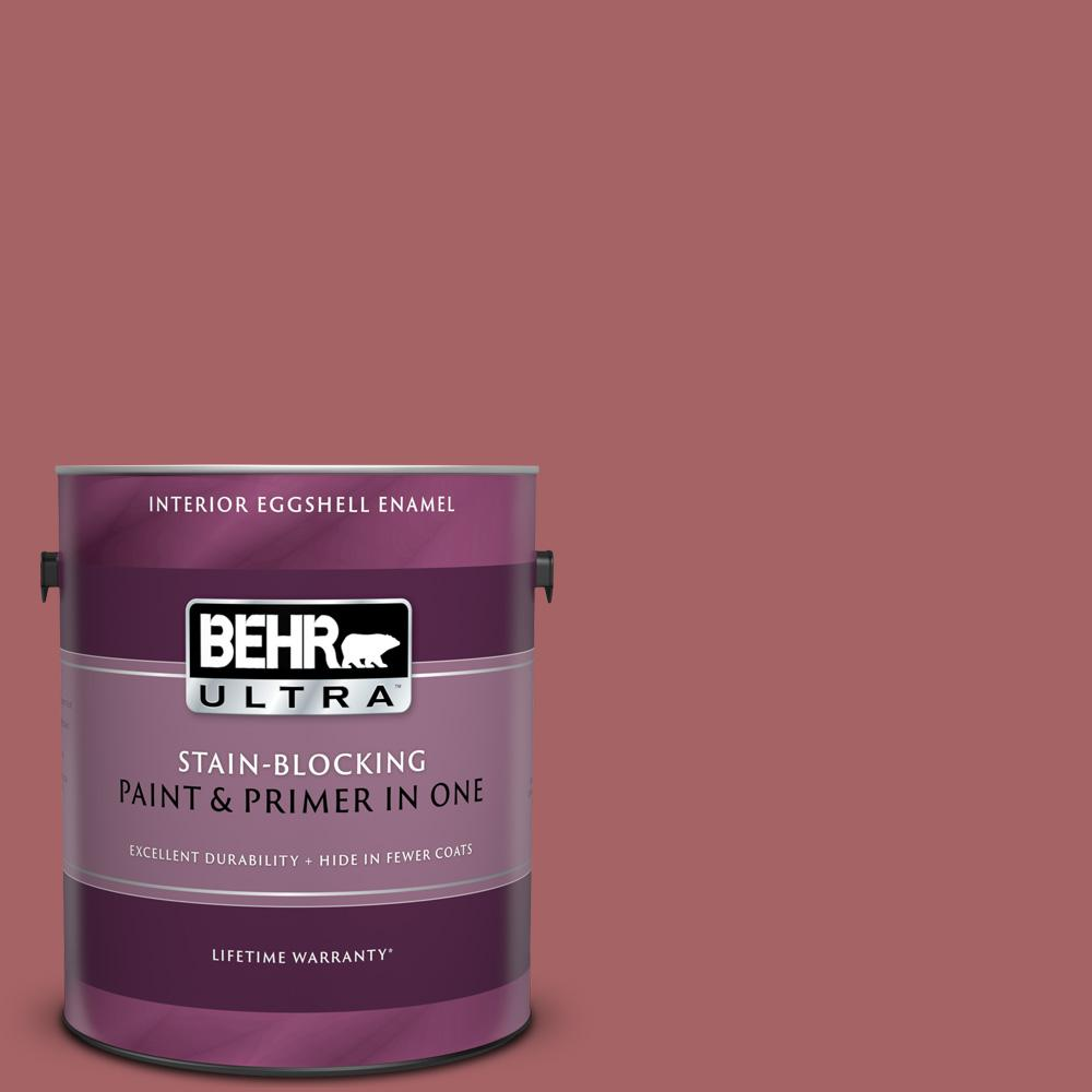 Behr Ultra 1 Gal Ppu1 06 Rose Marquee Eggshell Enamel Interior Paint And Primer In One 275301 The Home Depot