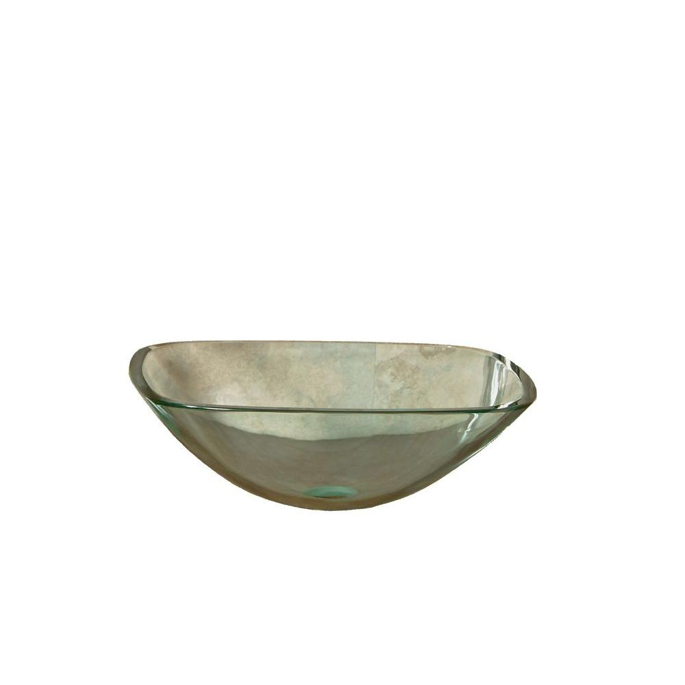 Cantrio Tempered Glass Vessel Sink In Clear