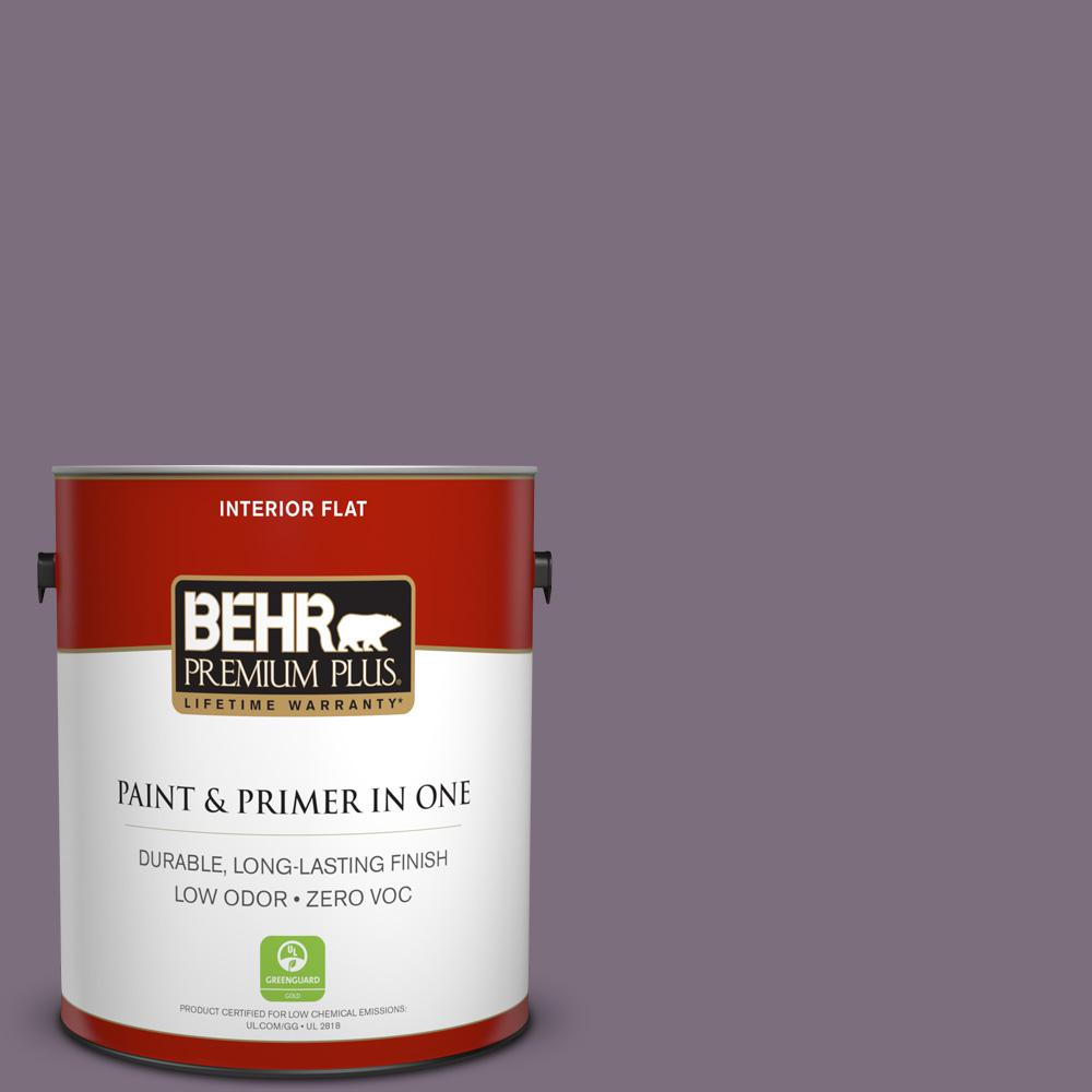 1 gal. #PPU17-17 Plum Shadow Zero VOC Flat Interior Paint